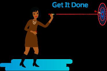 Gina aide son équipe à rester concentrée sur l'objectif, même dans les moments difficiles.
