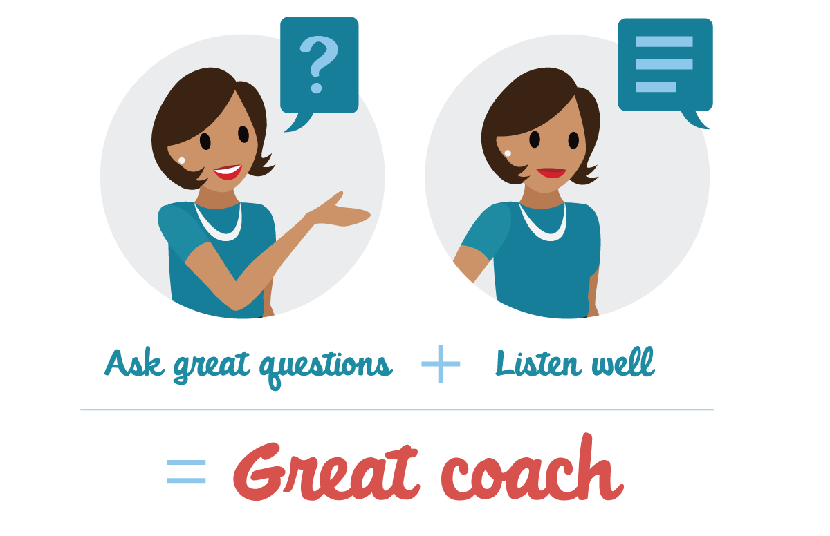 If you ask questions and listen well, you'll make a great coach.