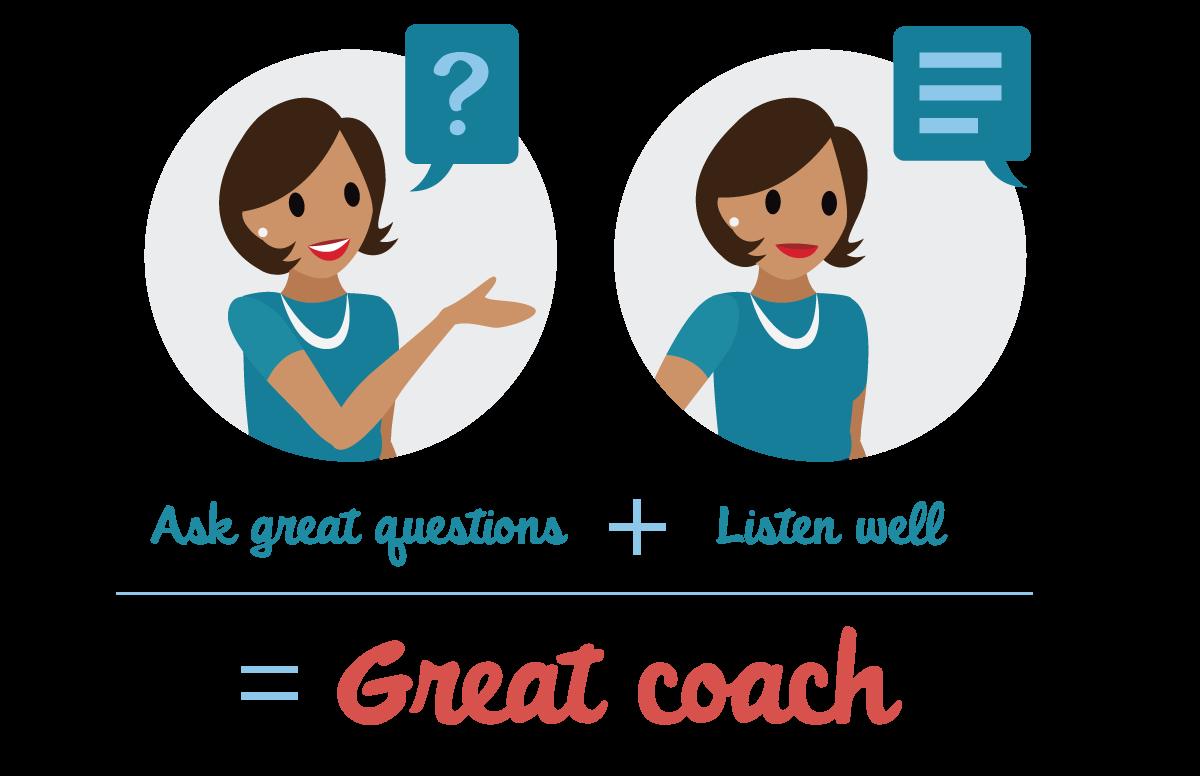 適切な質問をして、答えによく耳を傾ければ、優れたコーチになります。