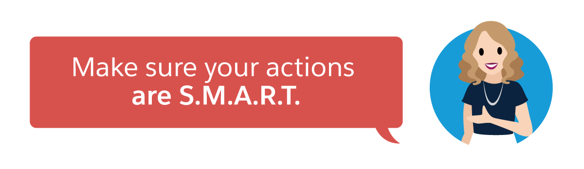 Make sure your actions are S.M.A.R.T.