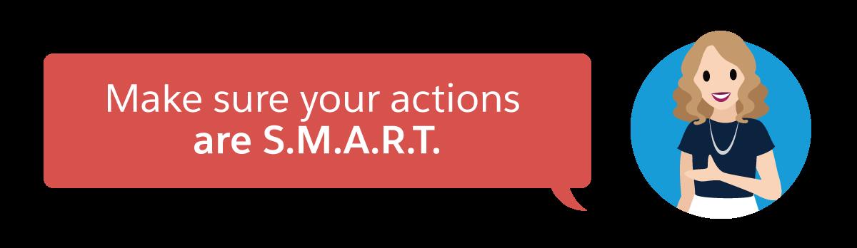 アクションは S.M.A.R.T. にします。