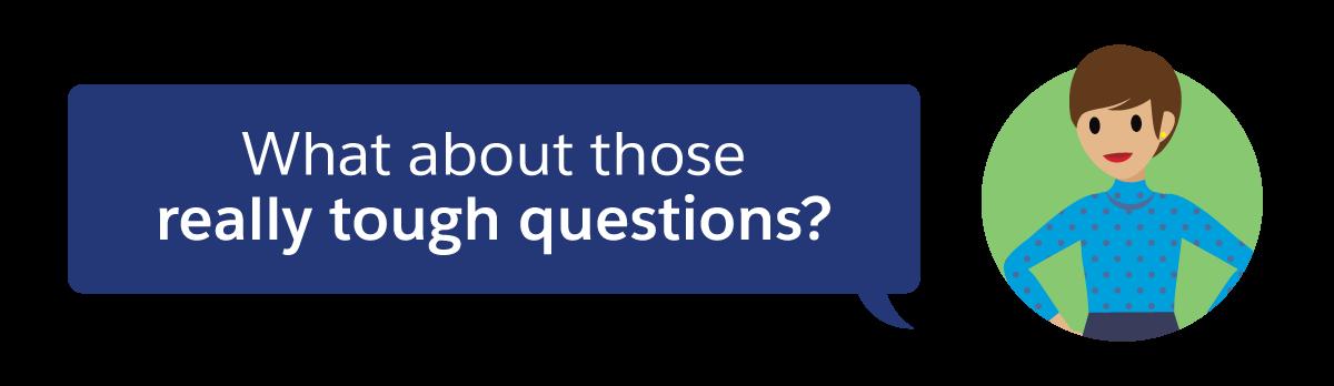 非常に難しい質問についてはどうしますか?