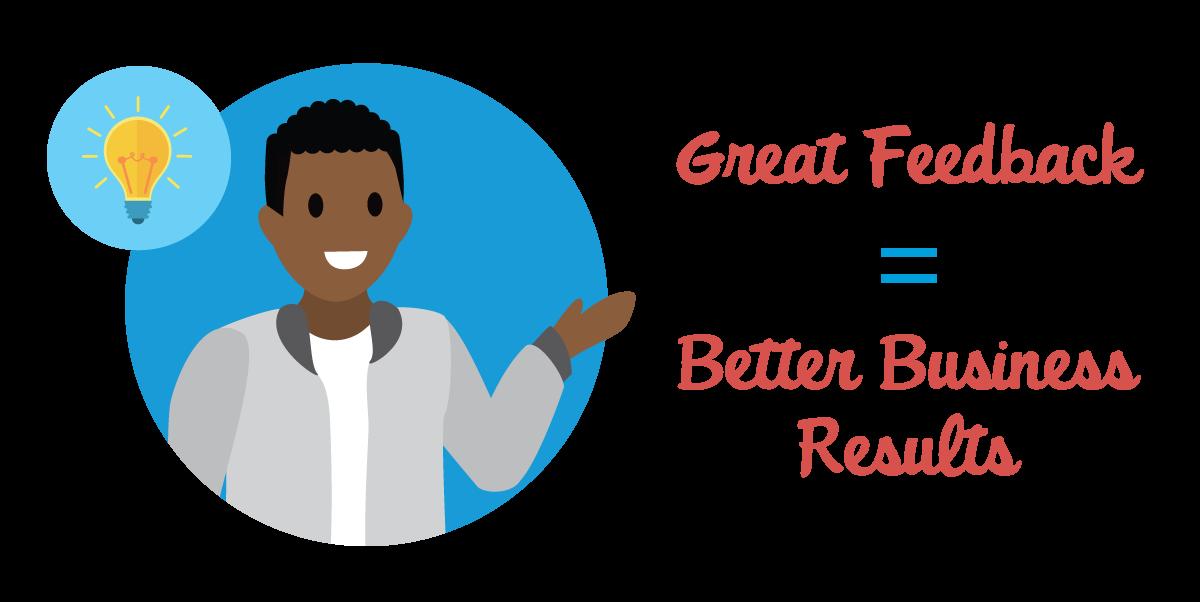 Hervorragendes Feedback führt zu besseren Geschäftsergebnissen.