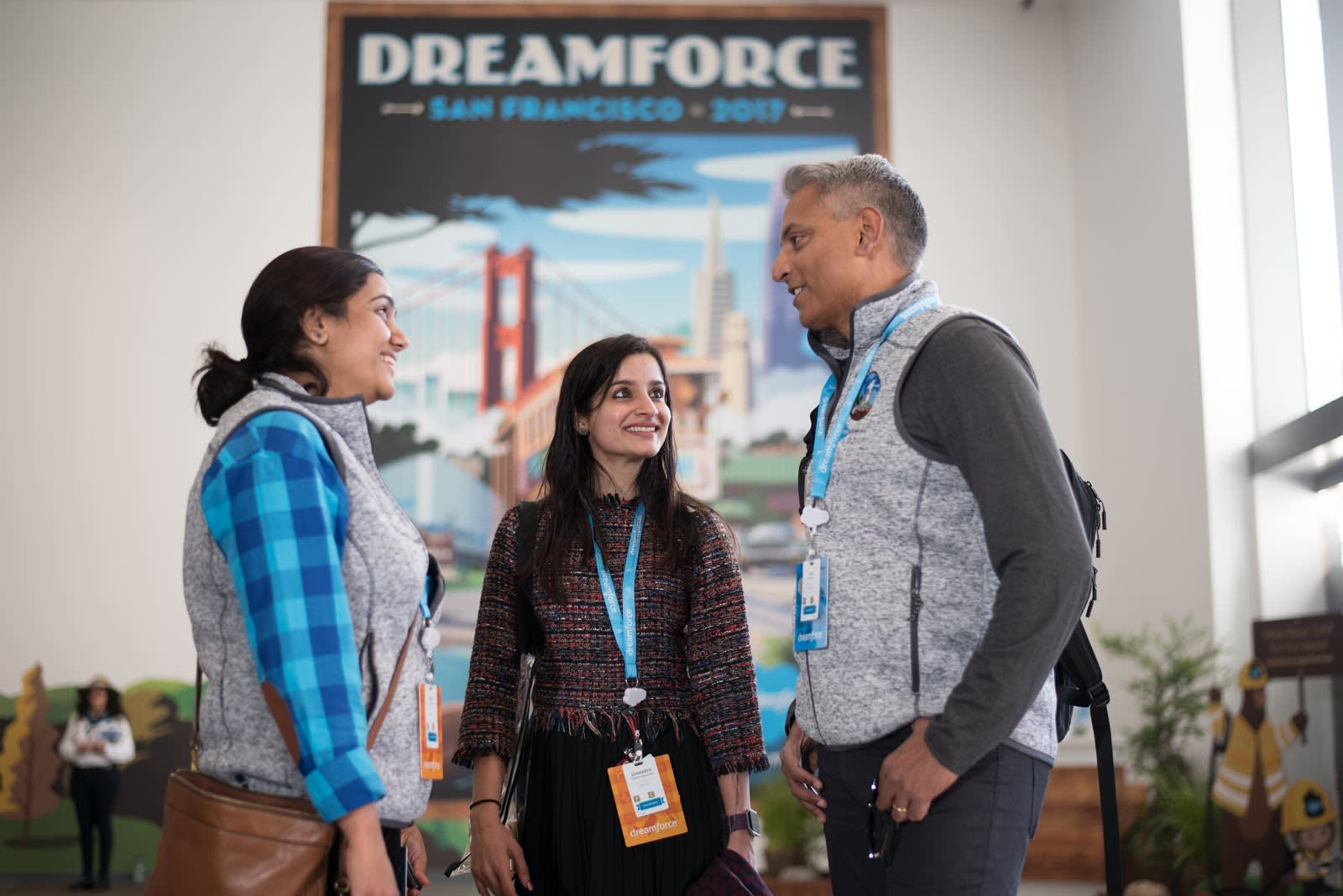 Photo of Trailblazers connecting at Dreamforce 2017.