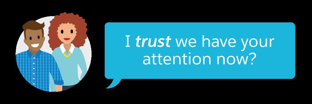 信頼は大切。ご理解いただけましたか?