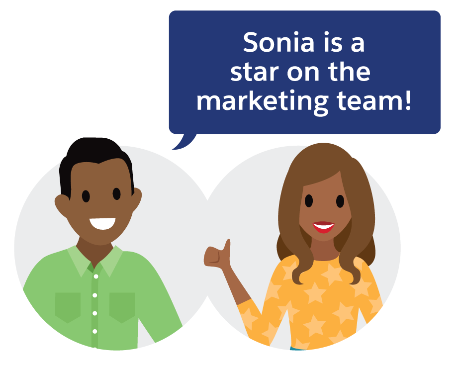 Sonia is a star on the Marketing team!