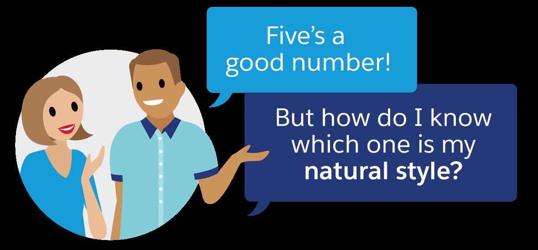 5 というのはよい数字です。でも、どれが私にとって自然なスタイルですか?