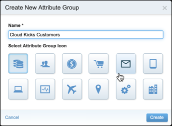 Create New Attribute Group for Cloud Kicks Customers