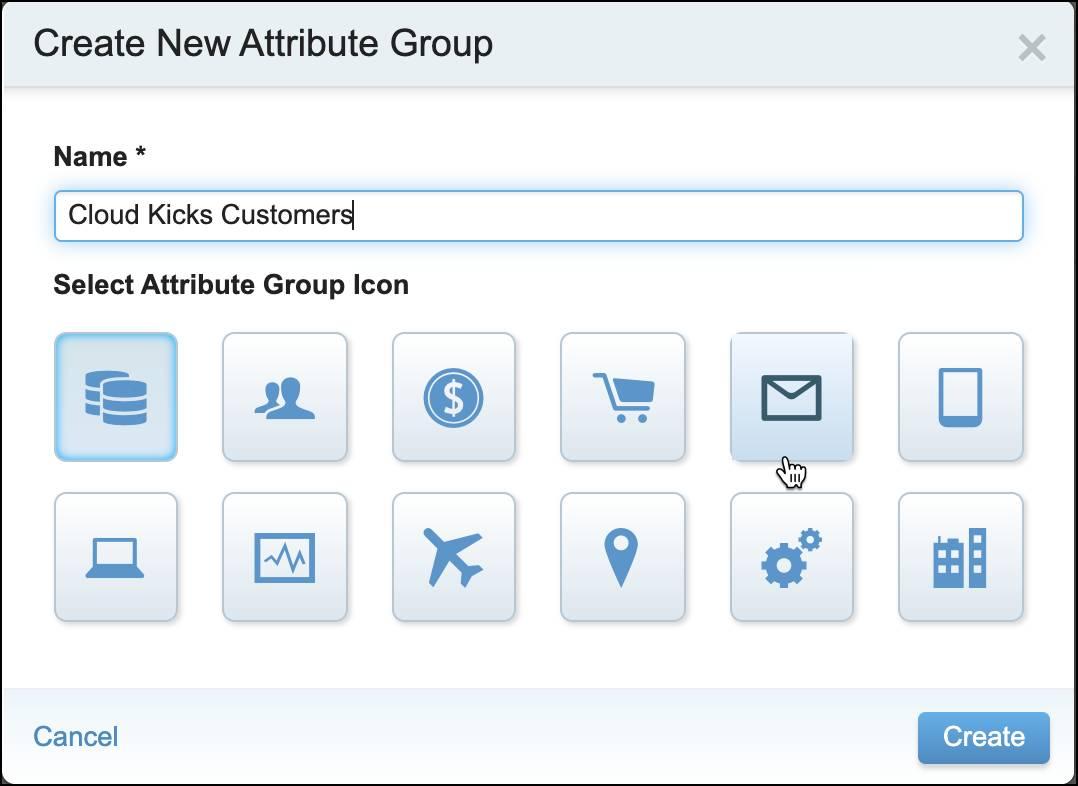 Create New Attribute Group for Cloud Kicks Customers