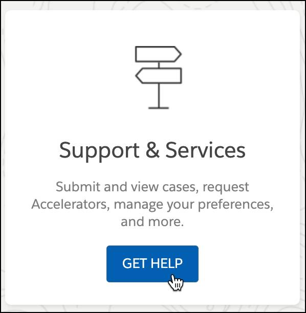 Get Help button selected from Support & Services tile.