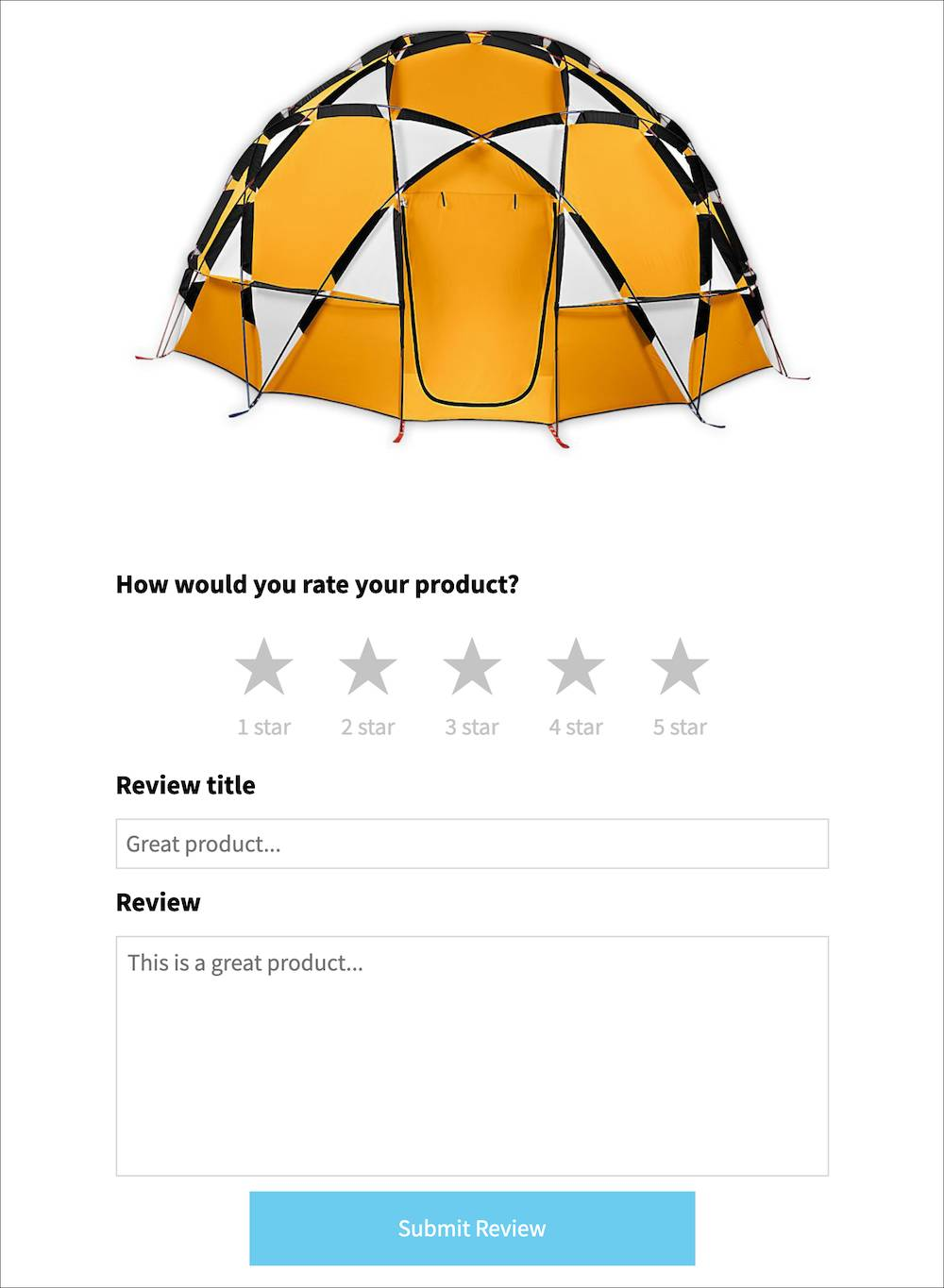 Example of interactive in-email review
