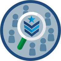 Military Veteran Recruitment Strategy icon