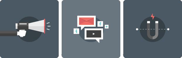 マーケティングとコミュニケーションの図