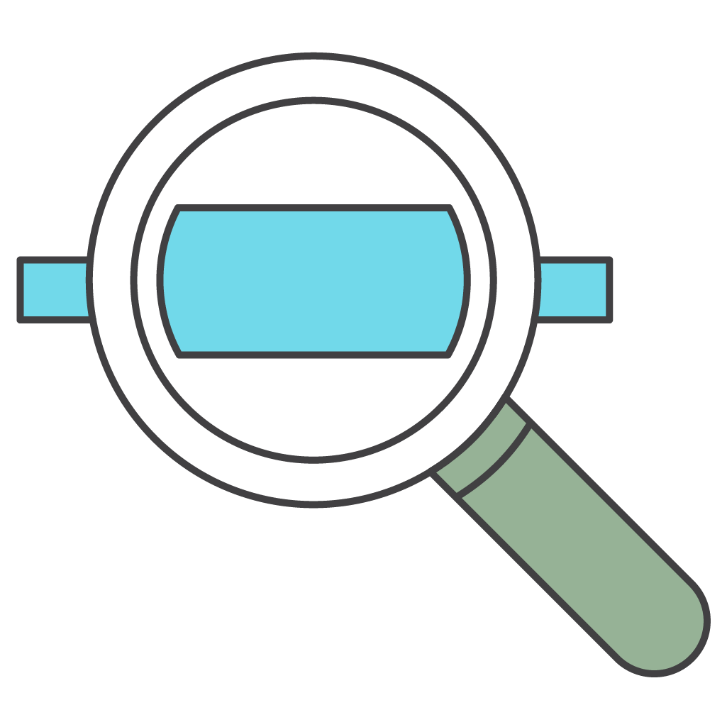 Magnifying glass to depict getting visibility into resources