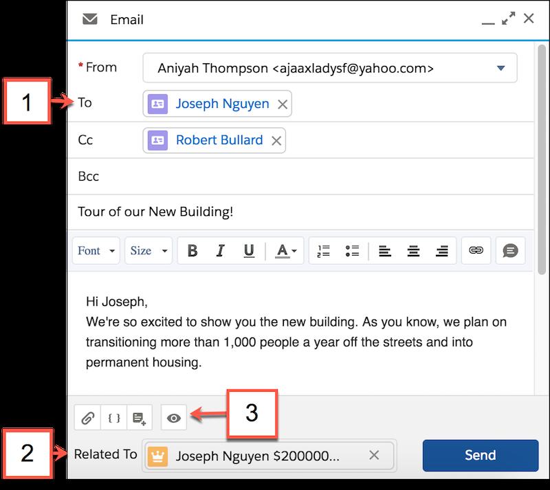メールコンポーザの詳細