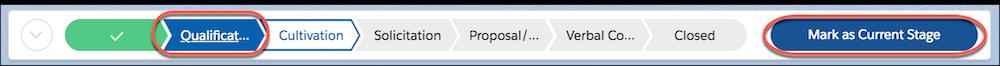 [現在のフェーズとしてマーク] ボタンが強調表示されたパスの詳細。