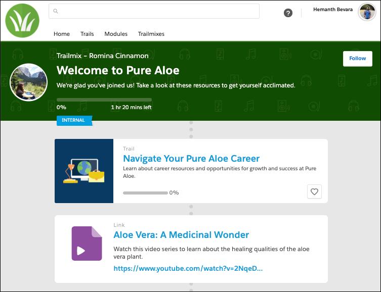 「Welcome to Pure Aloe (Pure Aloe にようこそ)」Trailmix