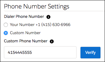 Phone Number Settings in Sales Dialer