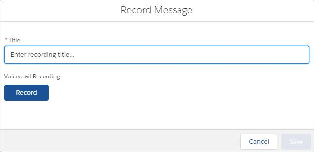 The Record Message window