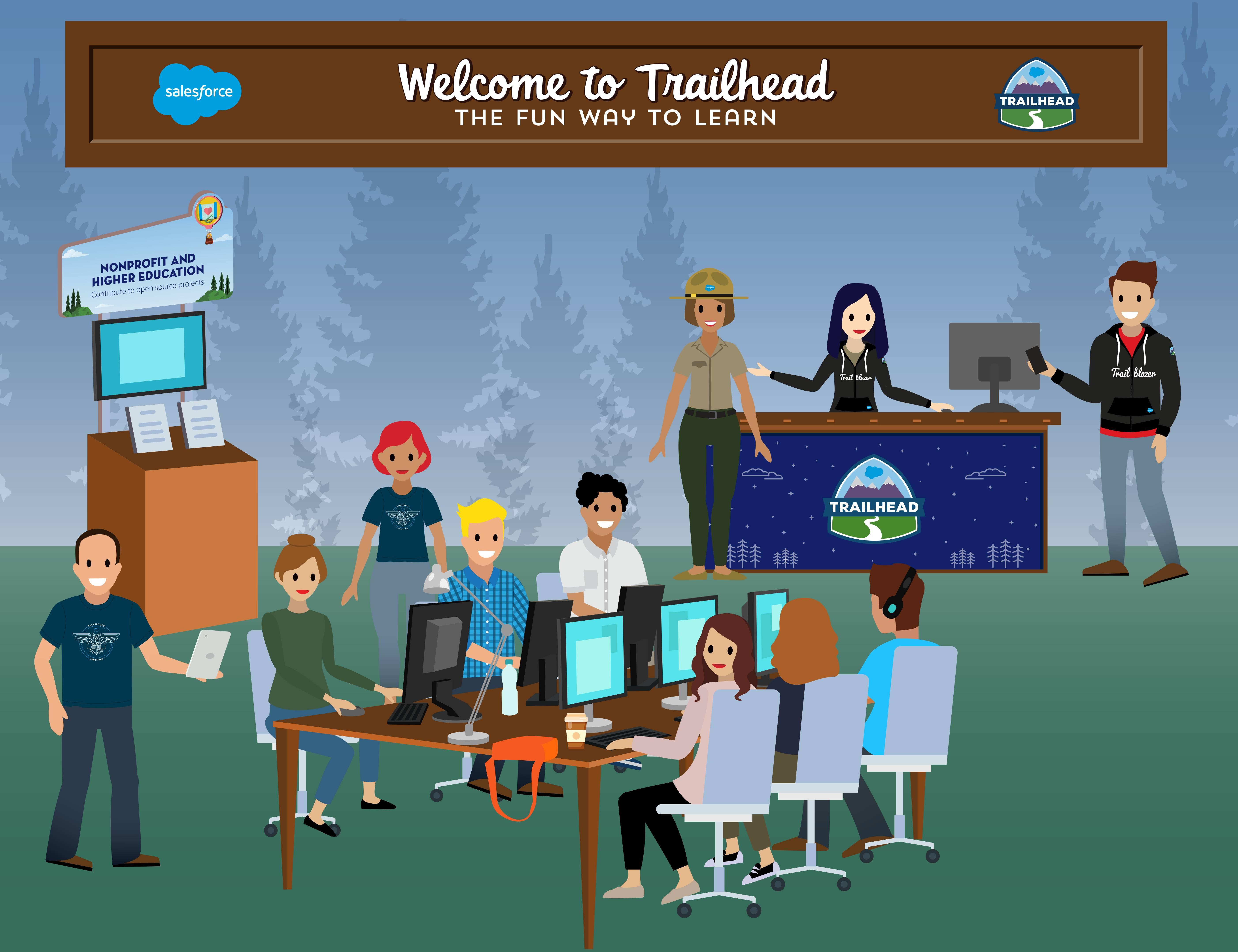 Membres de la communauté Salesforce travaillant ensemble pour améliorer les technologies.