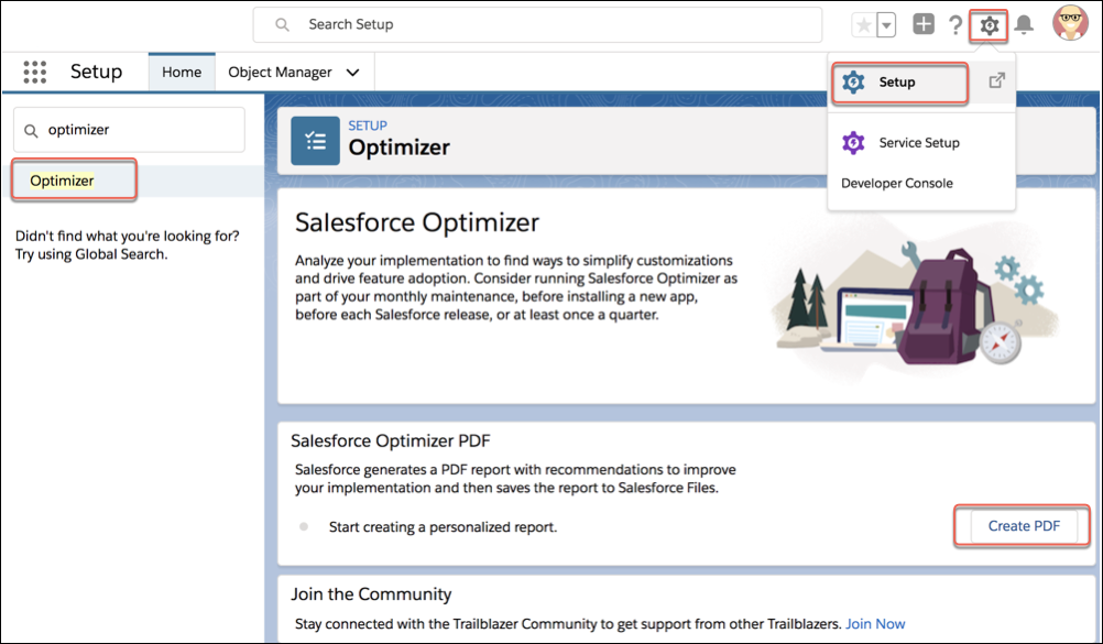 Create PDF for Optimizer