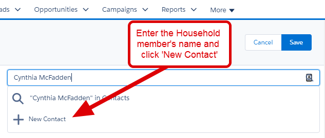 Account detail for household