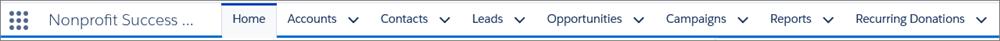 Tabs in the Salesforce tab bar