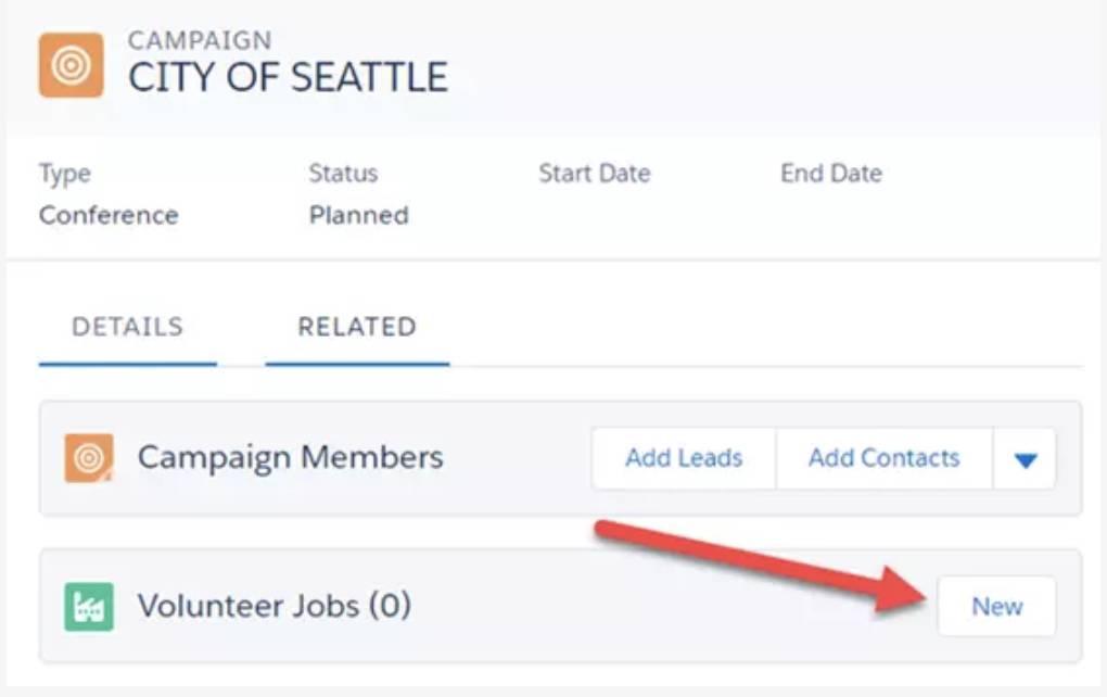Captura de tela da página Detalhes da campanha.