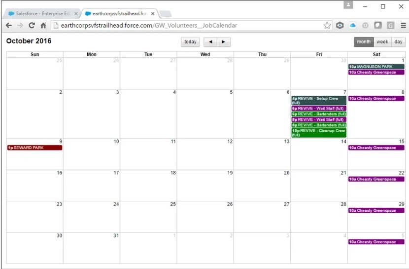 Calendário Trabalho