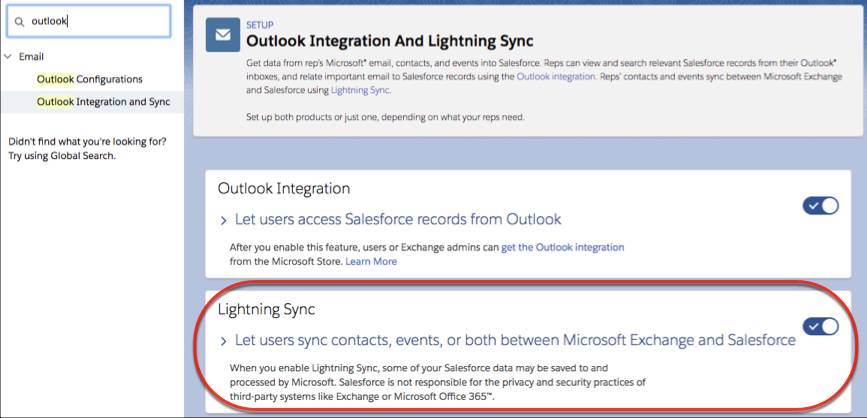 Set Up the Outlook Integration and Lightning Sync Unit | Salesforce