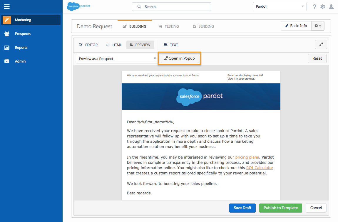 Pardot Email Templates | Create An Email Template Unit Salesforce Trailhead