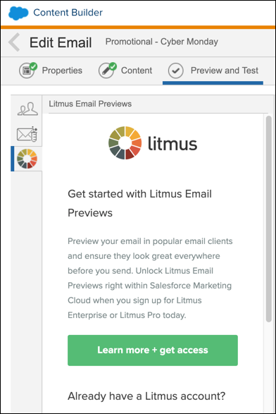 Preview and Test Screenshot for Litmus