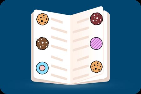 Visualização do menu de biscoitos