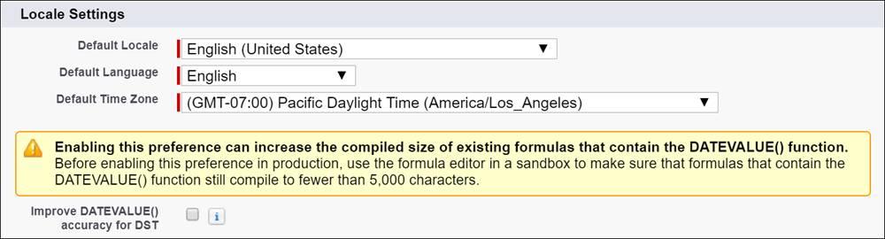 改善された datevalue オプションを有効にするためのチェックボックスの画像。