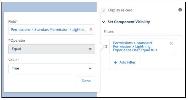 User permissions in component visibility rules