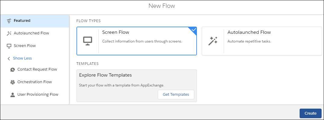 New Flow window