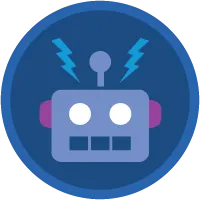 Lightning Flow badge icon.