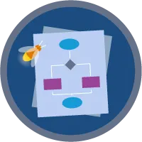 Flow Builder badge icon.