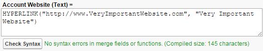 Une formule de lien hypertexte.