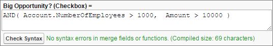 Une formule utilisant la fonction logique AND().