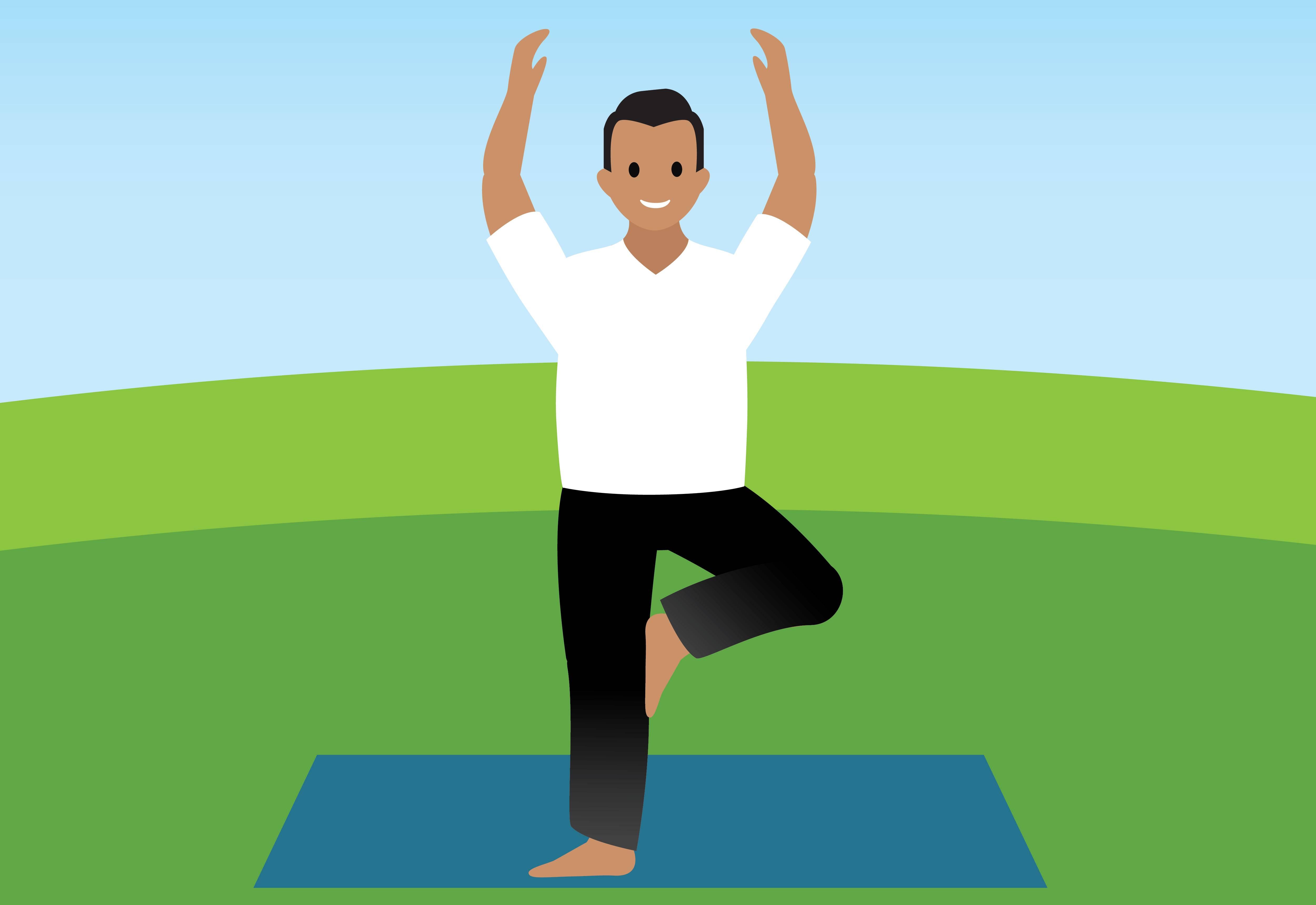 Habitants du pays Salesforce en train de pratiquer le yoga.