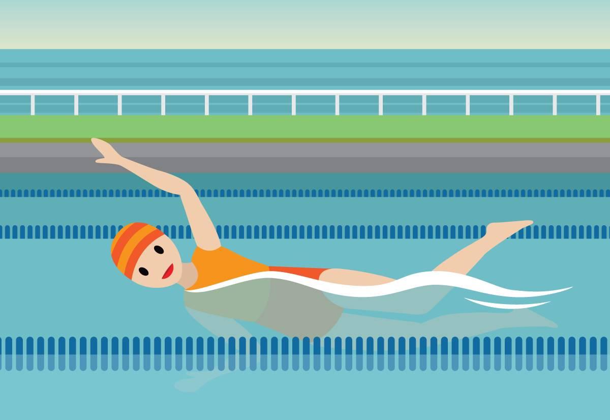 Habitante du pays Salesforce en train de faire de la natation.