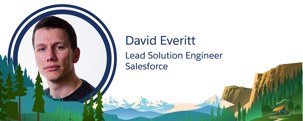 Bild des Salesforce-Mitarbeiters David Everitt.