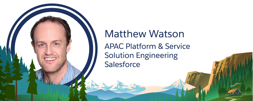 Image of Salesforce employee, Matthew Watson.