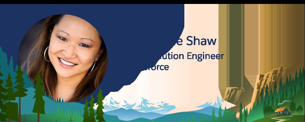 Imagem de Stephanie Shaw, funcionária da Salesforce.
