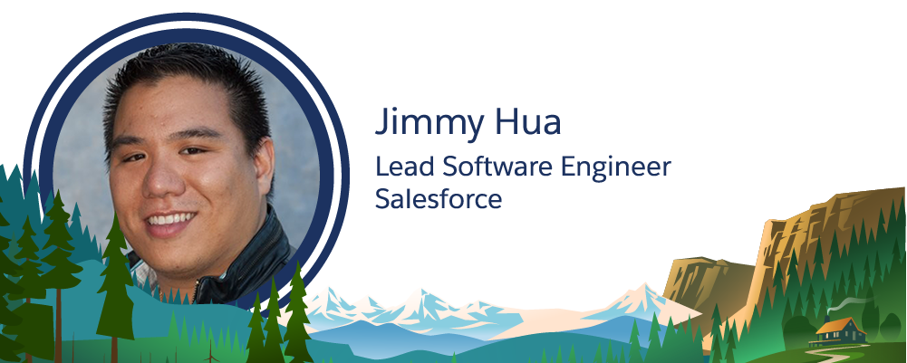 Imagem de Jimmy Hua, funcionário da Salesforce.
