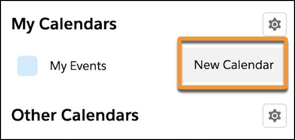 The New Calendar button