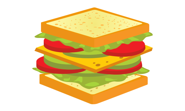 A cheese sandwich