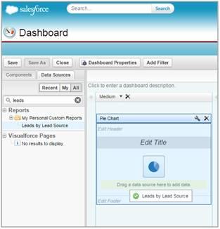 Choosing dashboard sources