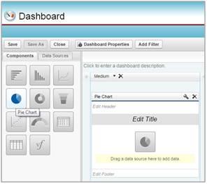 Auswählen von Dashboard-Komponenten